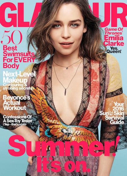 Emilia Clarke Covers Glamour