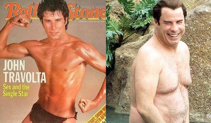 John Travolta 1983 vs John Travolta 2012