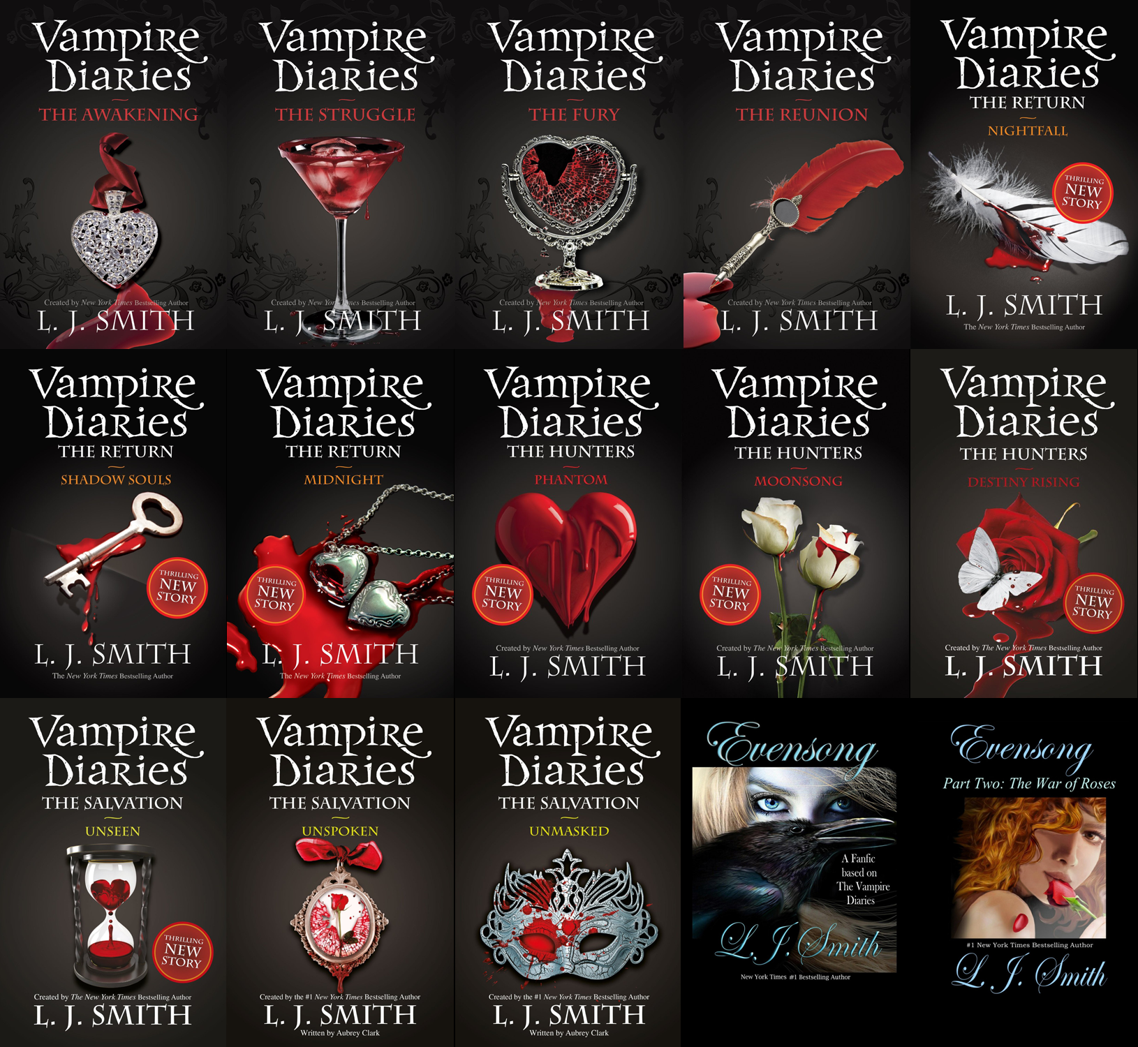 Vampire diaries books in order - all 13 of them!