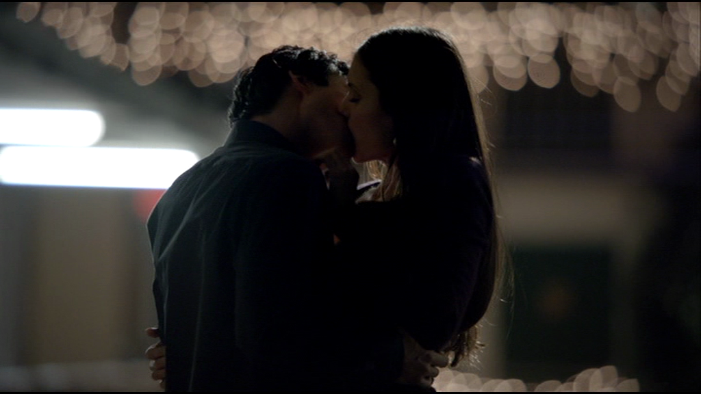 Damon and Elena kissed