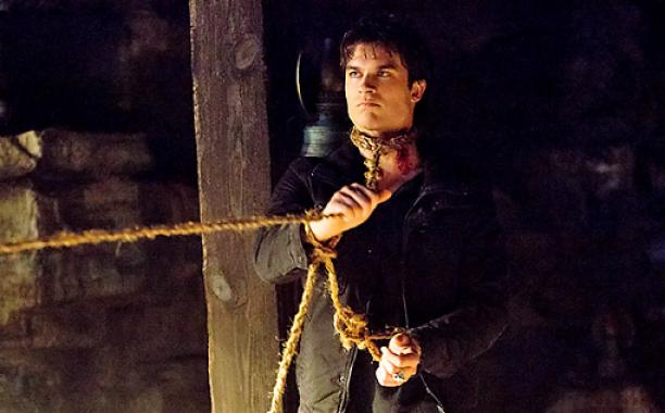 Damon at the Salvatore's cellar